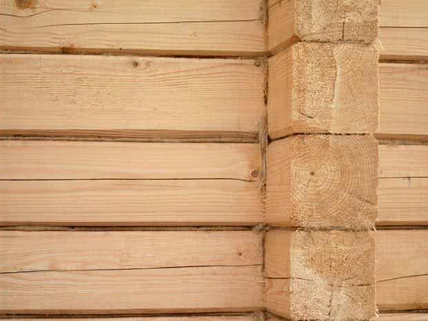 Возведение стен бани из бруса