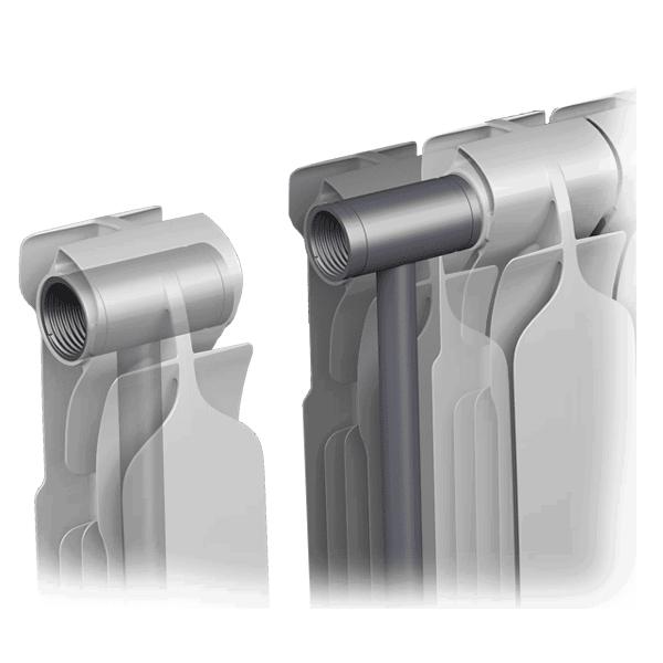Конструкция биметаллических батарей отопления