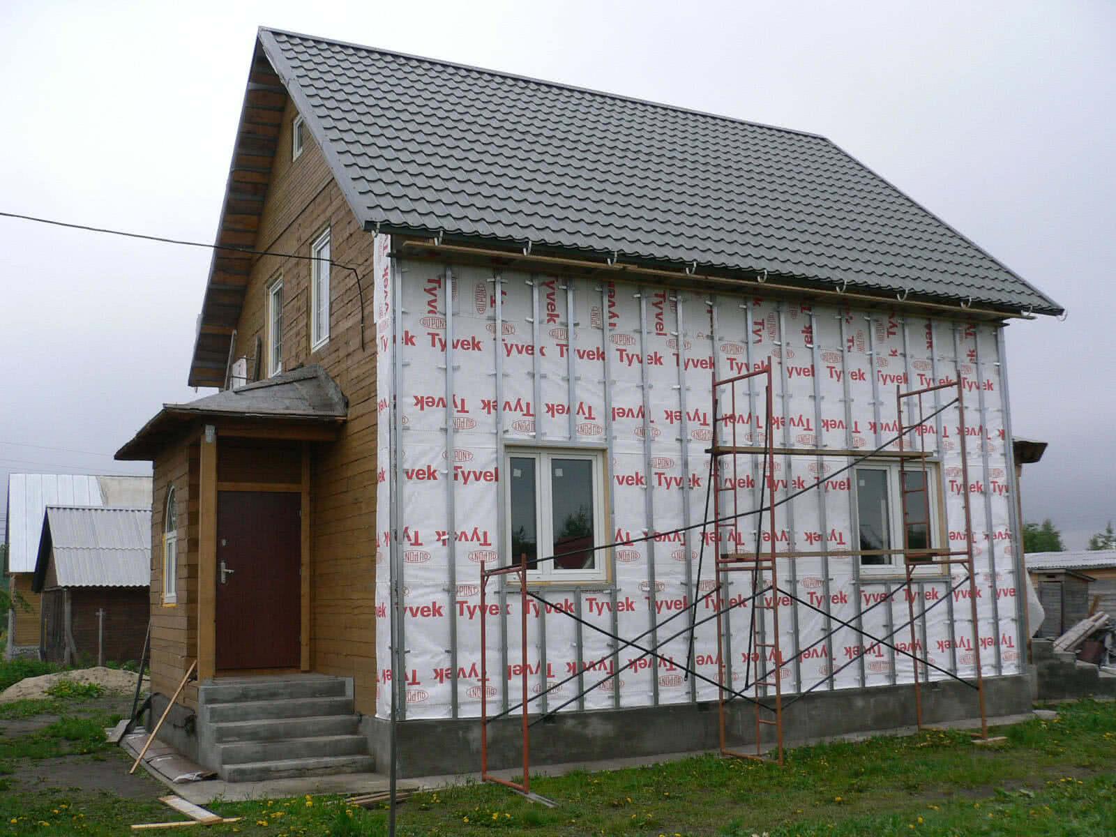 Подготовка к монтажу блок хауса