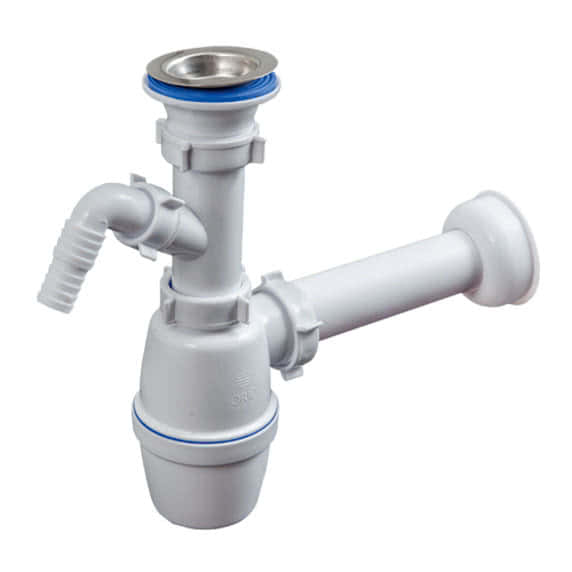 Сифон с гидрозатвором для канализации