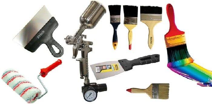 Инструменты для покраски гипсокартона