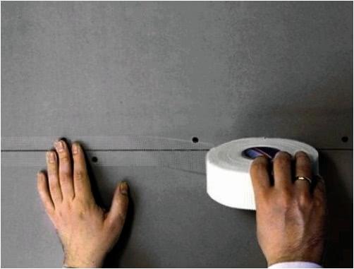 Обработка плит гипсокартона