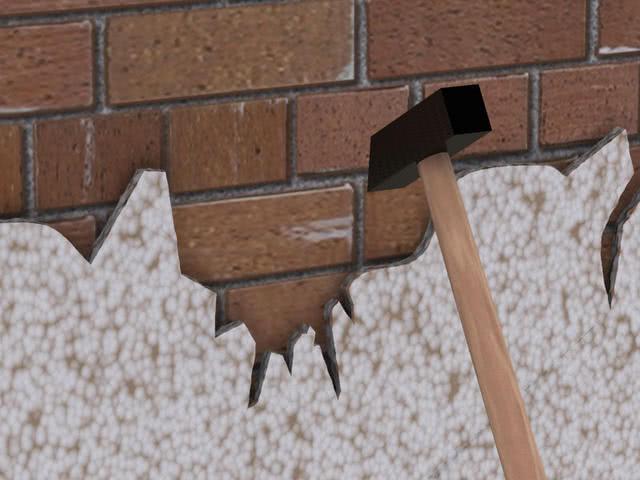 Очистка поверхности под штукатурку