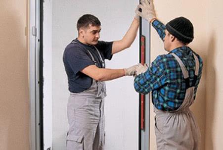 Подготовка к установке входной двери
