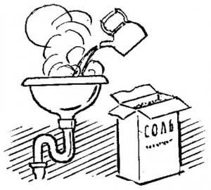 Химический способ чистки засоров