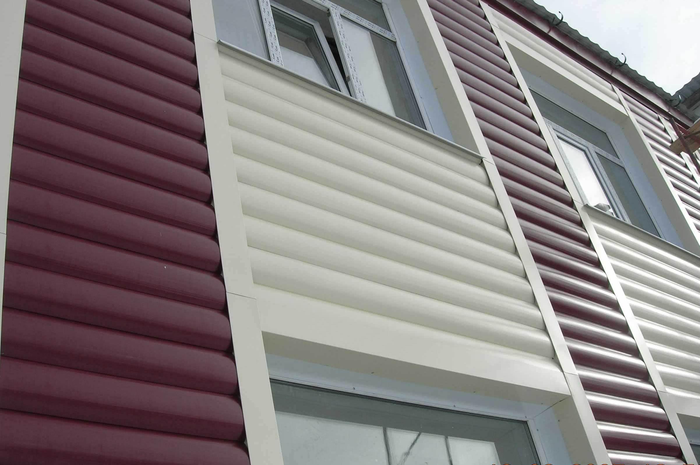 Фасад из металлического сайдинга