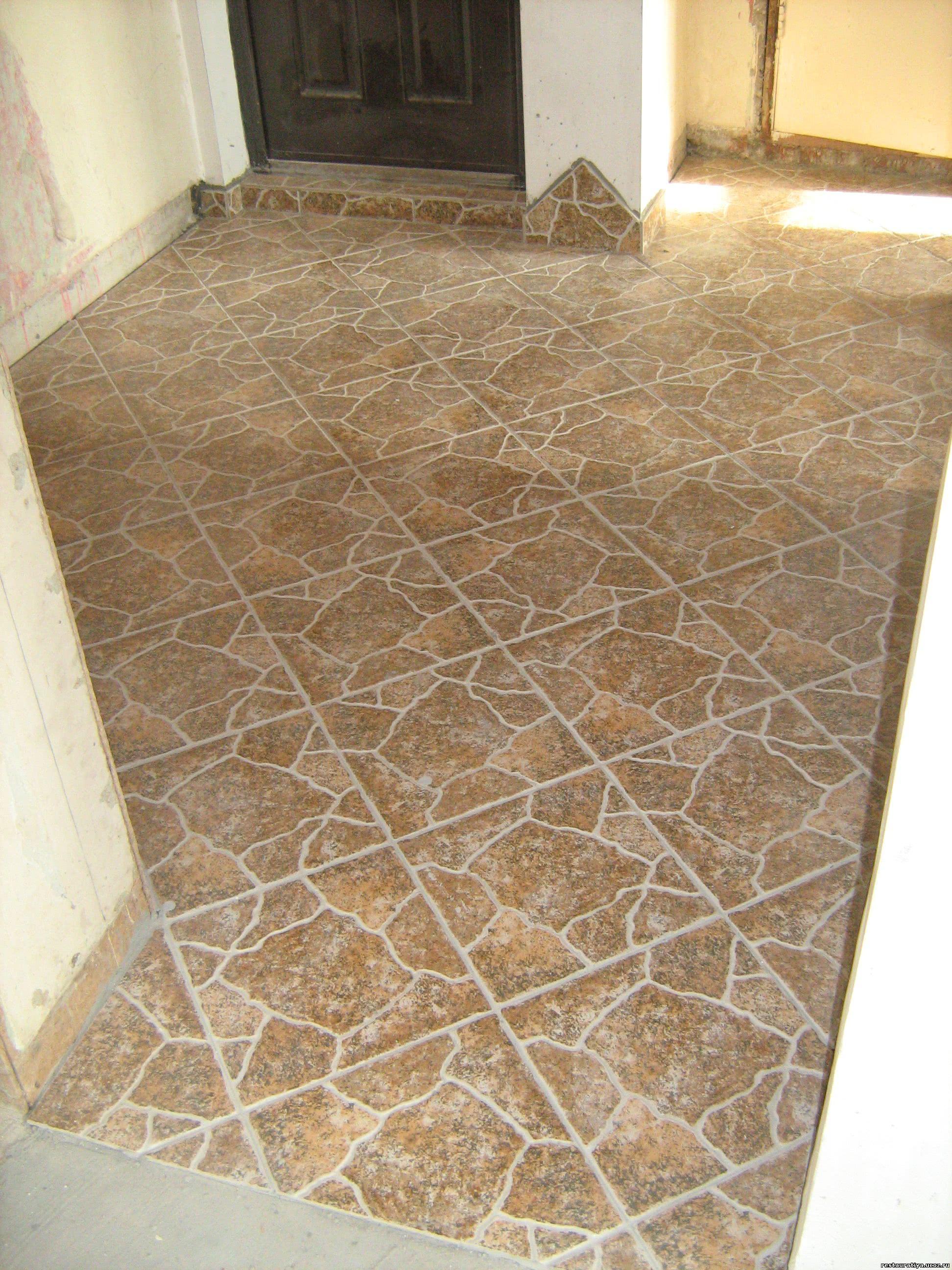 Диагональная кладка плитки