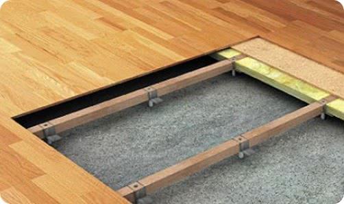 Выравнивание деревянных полов под ламинат
