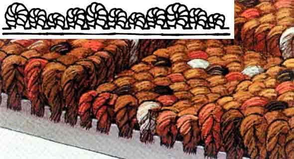 Петельный ворс ковролина