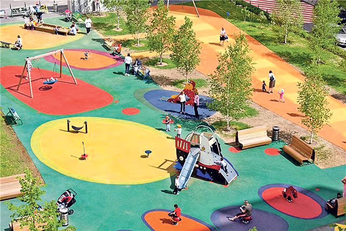 ландшафтный дизайн участков детского сада