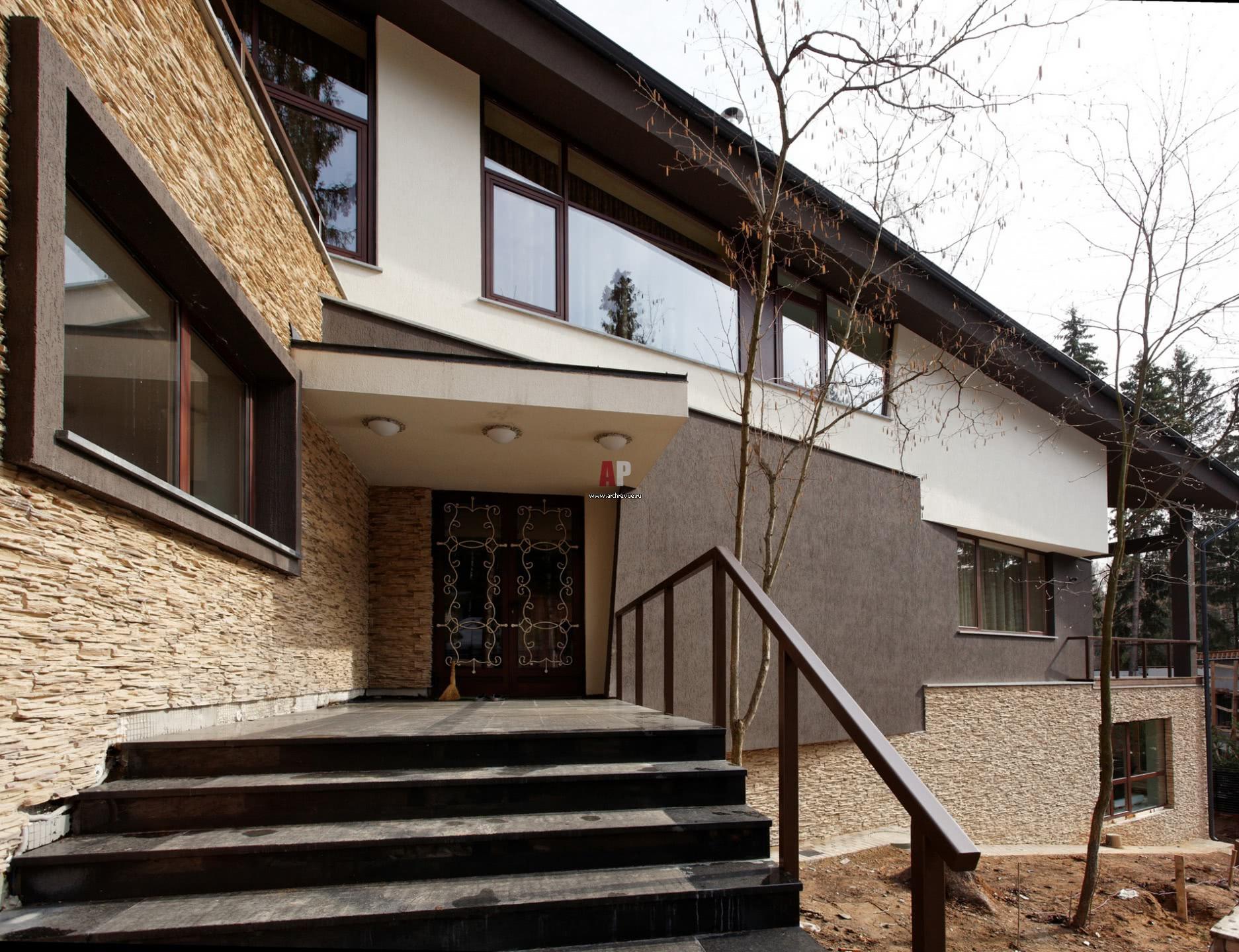 Фасад дома как часть ландшафтного дизайна