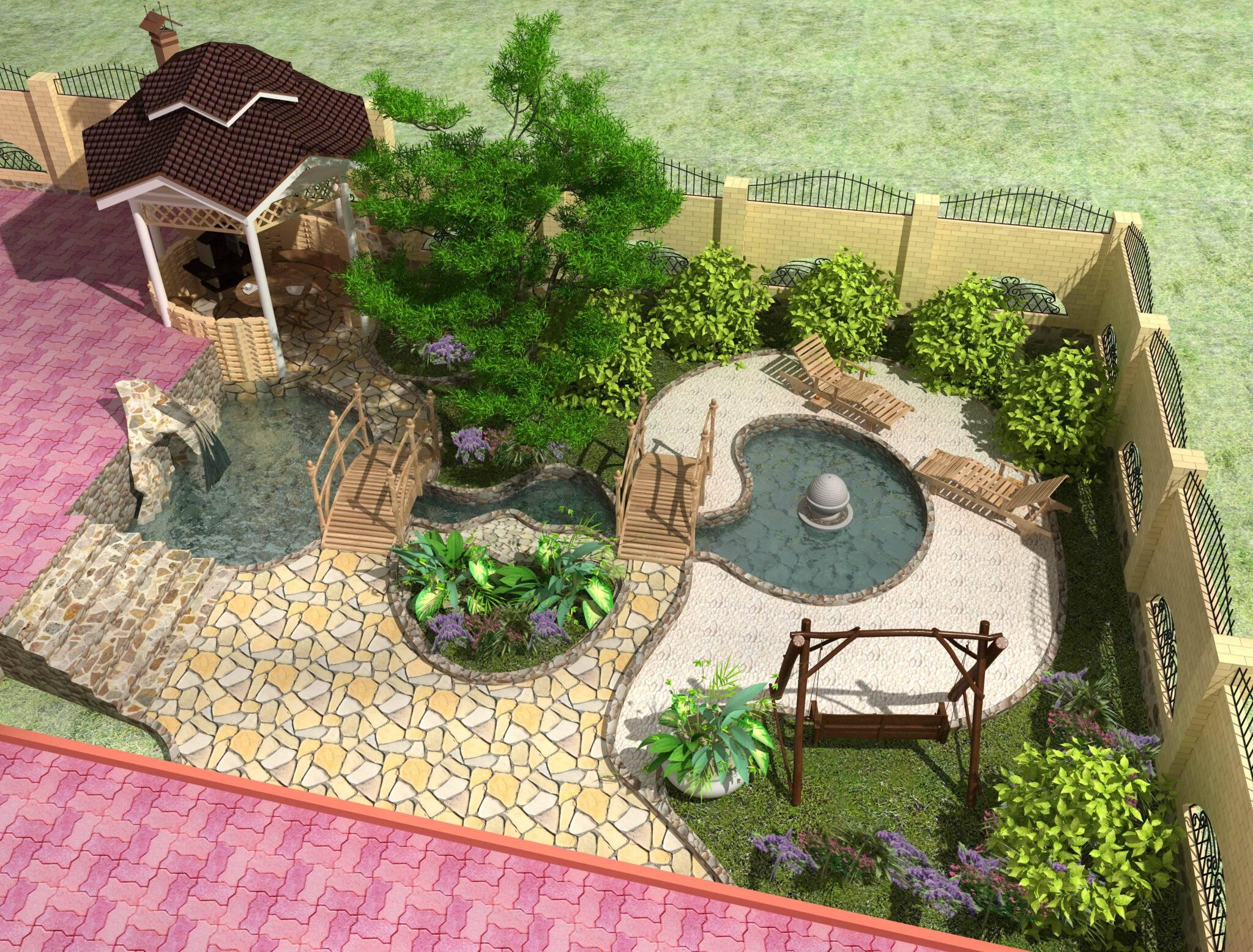мебель в ландшафтном дизайне таунхауса