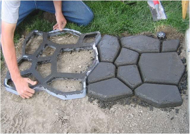 Дорожки из бетона