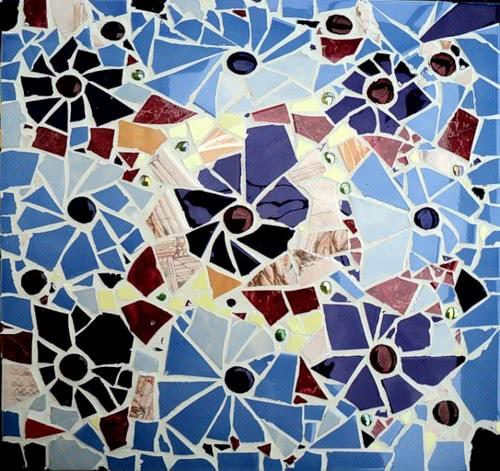 Мозайка из битой плитки своими руками