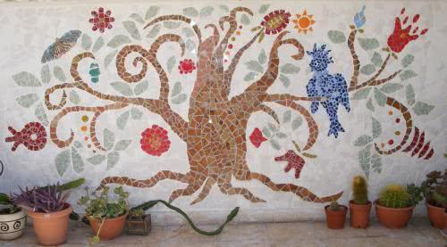 Рисунки мозайки из битой плитки