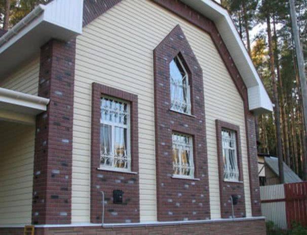 Облицовка деревяных и керпичных домов сайдингом