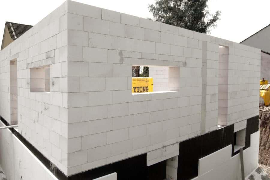 Стены из пенобетона