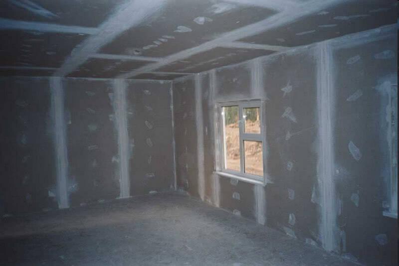 Результат обшивки стен гипсокартоном