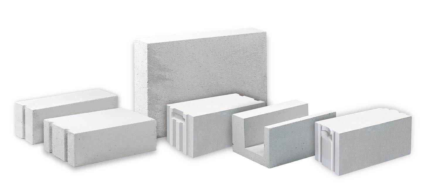 Размеры и формы пенобетонных блоков