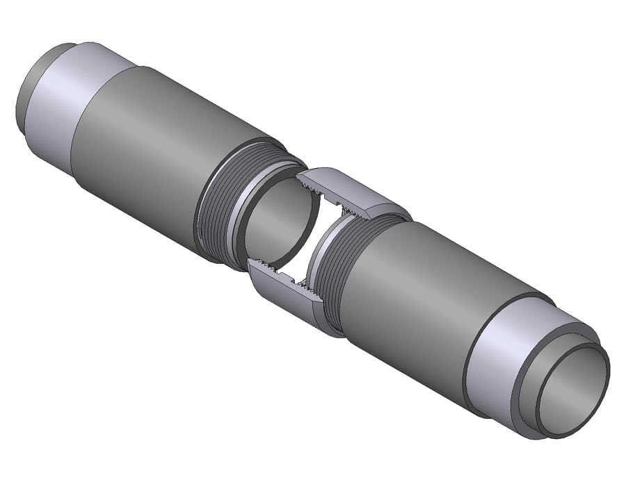 резьбовое соединение профильных труб