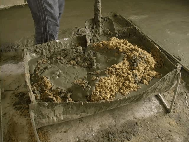 Приготовление раствора бетона