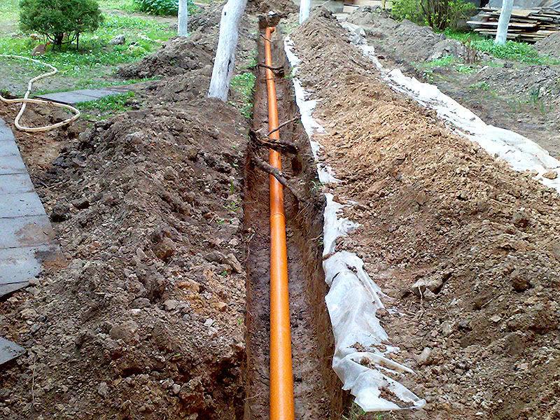 Метод прокладки труб в земле