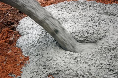 Цемент в бетоне