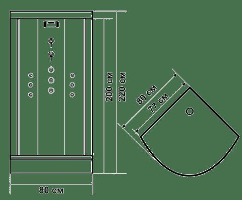 Душевые кабины 80х80