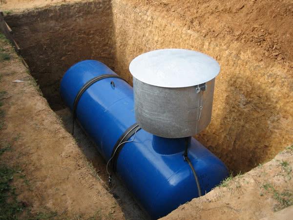 Установка подземного газольдера