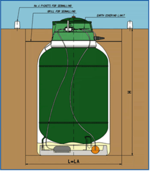 Вертикальный газольдер