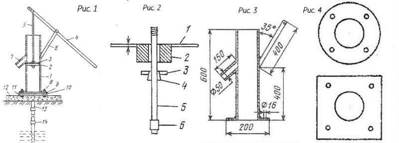 схема ручной насос для скважины своими руками