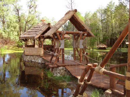 Волшебное озеро и мостик