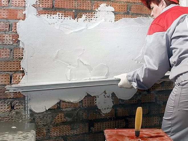 Выравнивание стен сеткой
