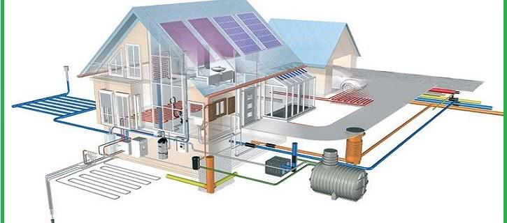 Системы водоснабжения и отопления дома