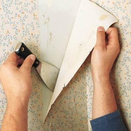 Снятие бумажных обоев