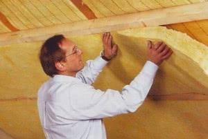 Утепление крыши рулонными материалами