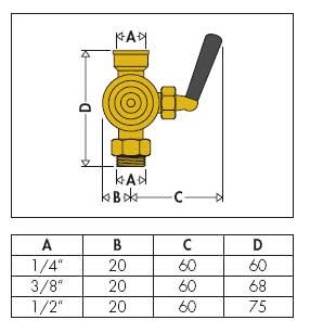 Размеры трехходового крана для системы отопления