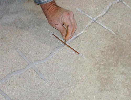 Армирование трещины