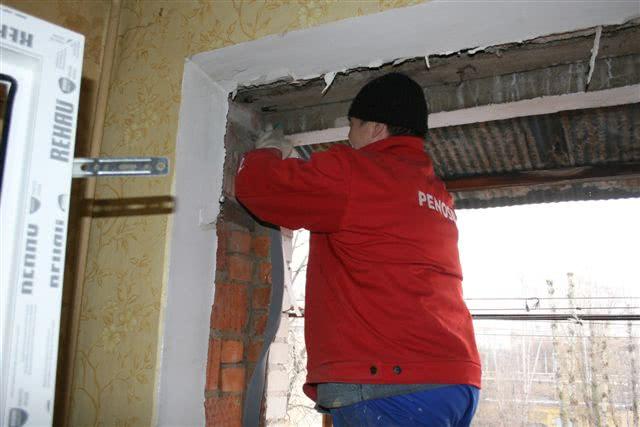 Подготовка к установки пластиковых окон