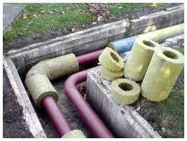 Утепление канализации кожухами из пенопропилена