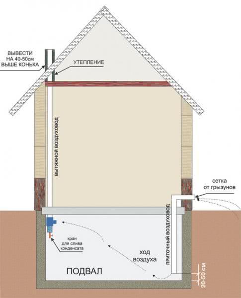 Вентиляция подвального помещения