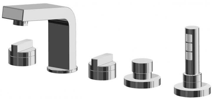 Встраиваемые смесители для ванны на бортик