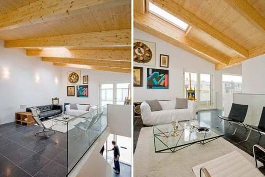 Пример отделки дома из бруса гипсокартоном