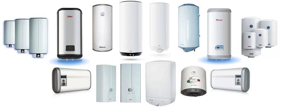 Виды водонагревателей