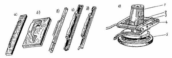 Рис. 8.6. Инструменты для разравнивания, затирки и заглаживания штукатурки