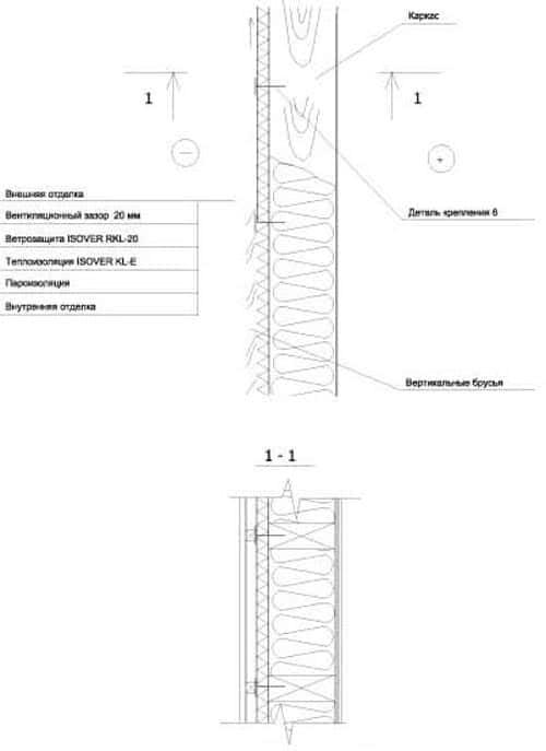 Утепление стены с деревянным каркасом с облицовкой сайдингом