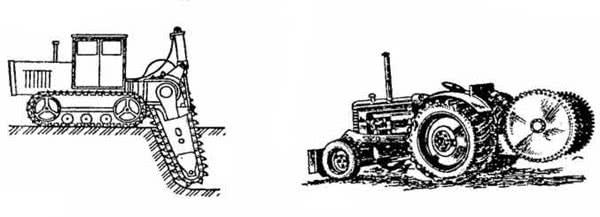 Рис. 2.64. Бара на базе трактора Т-100; Рис. 2.65. Двухдисковая фрезерная машина