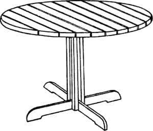 Рис. 1. Круглый стол на одной ножке