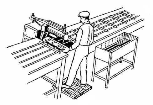 Рис. 5.3. Изготовление сетки на одноэлектродной контактно–сварочной машине