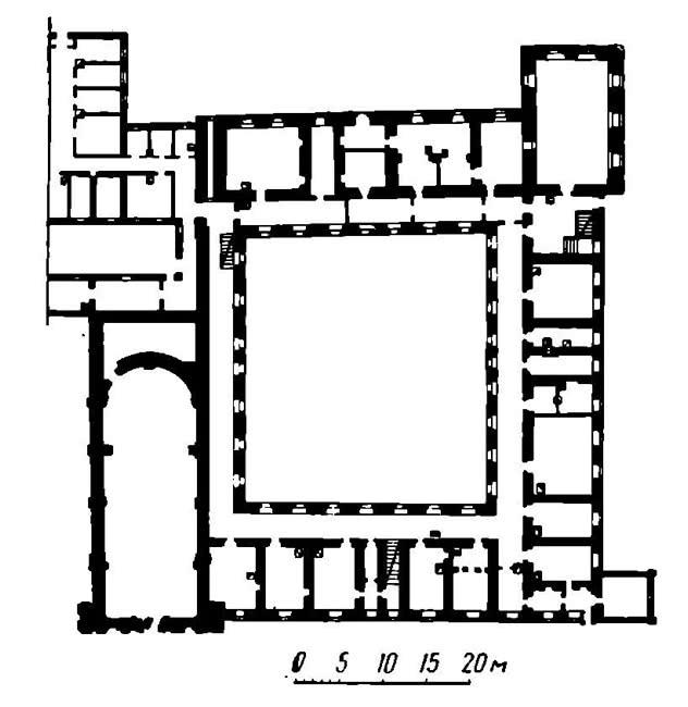 План Бригитского костела и кляштора